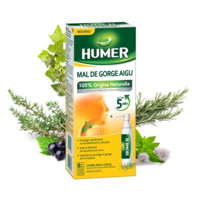 HUMER MAL DE GORGE AIGU SPRAY : traite le mal de gorge aigu