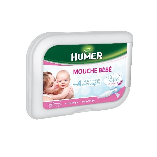 Humer Mouche Bébé pour évacuer les sécrétions nasales et mucosités des narines du bébé