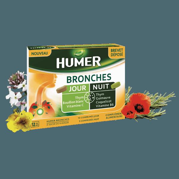 Humer Bronches : agit sur les bronches de jour comme de nuit.